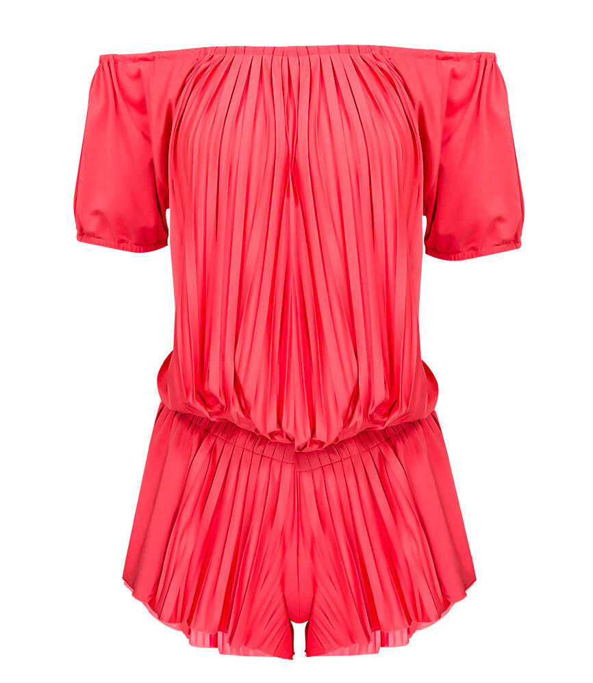 Sunrise Pleated Jumpsuit - Rouge