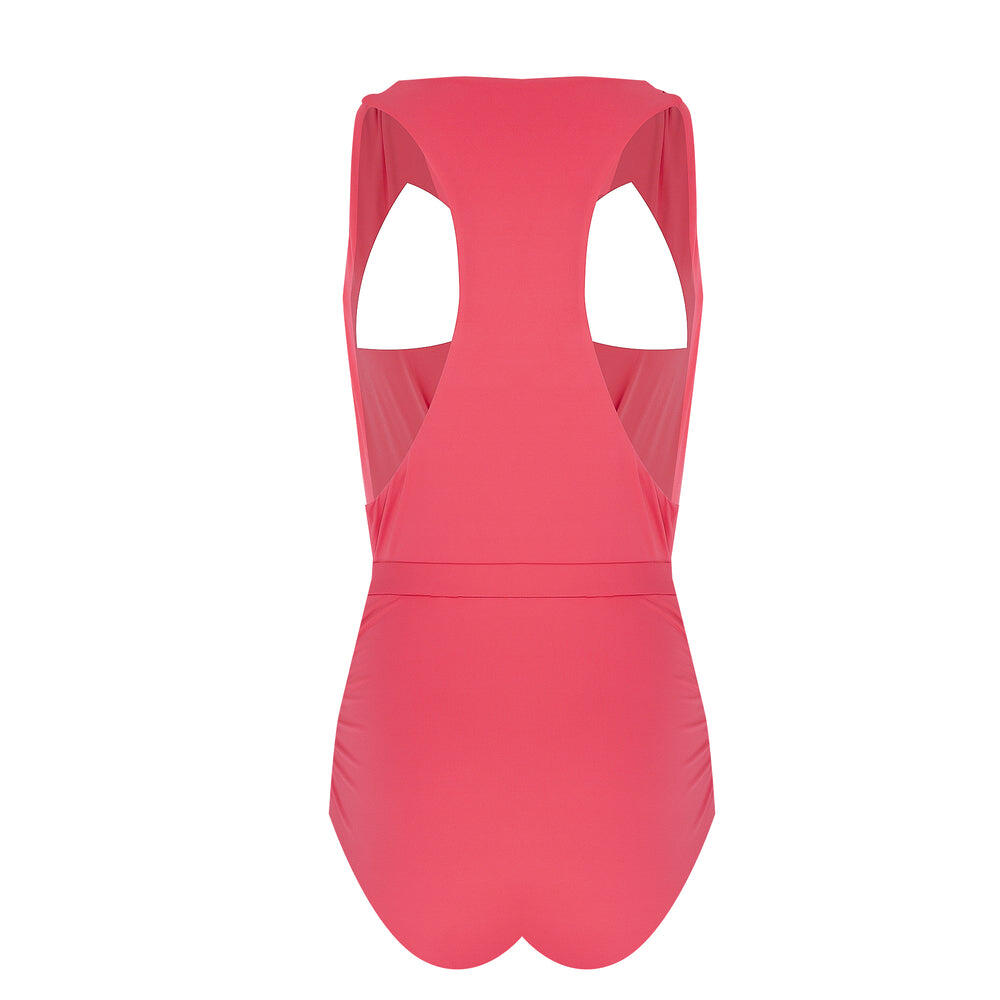 Solid Cross Front Plunge One Piece