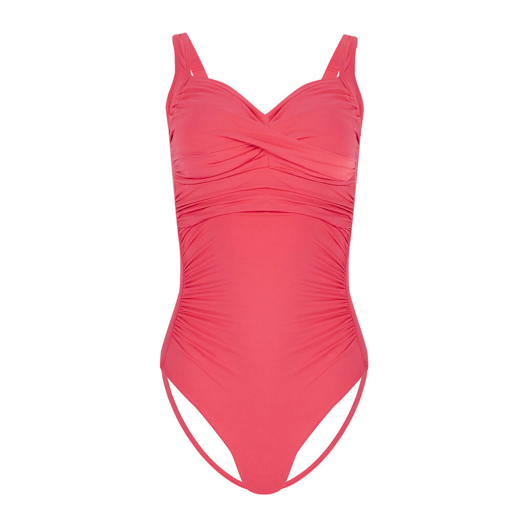 Solid Plus Cup Twist Front One Piece