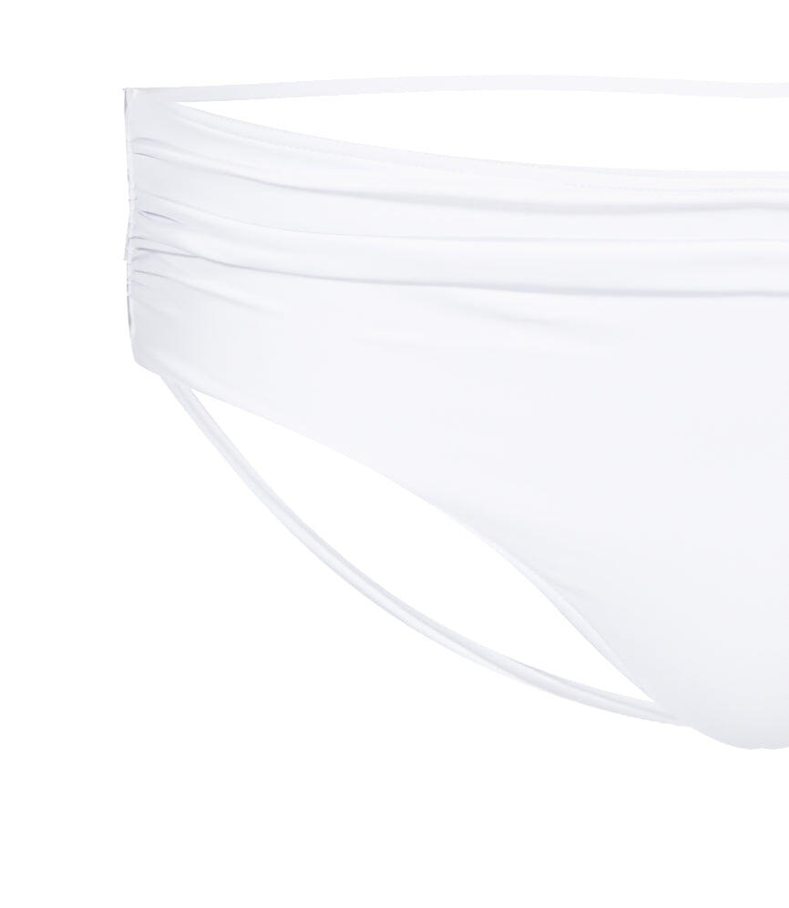 Solid Ruched Boxer - White