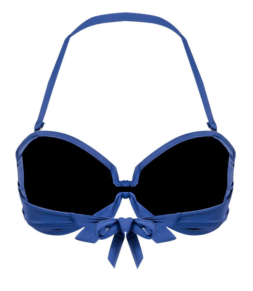 Solid Tie Front Bandeau - Midnight