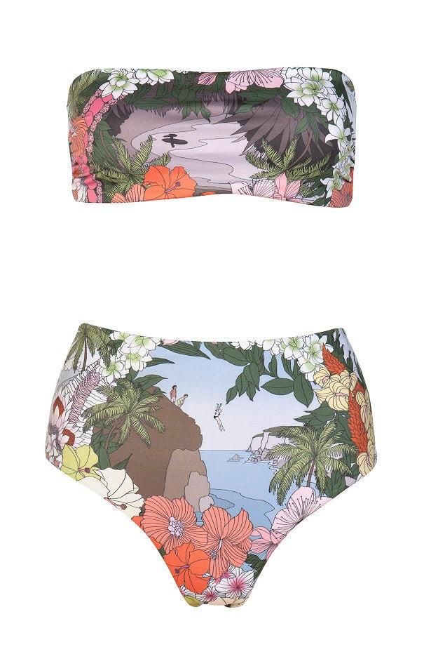 Surf N' Turf High Rise Bikini Bottom