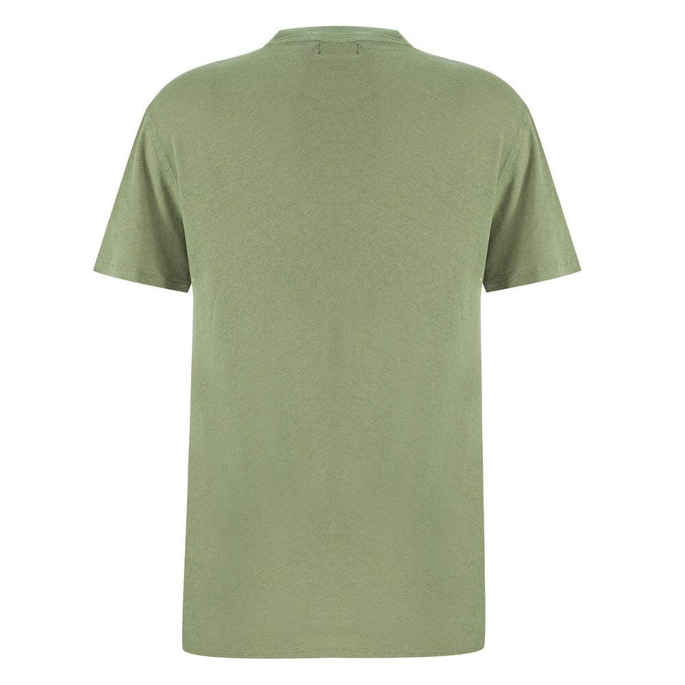 Regular Fit Olive Green T Shirt | cotton linen t shirts