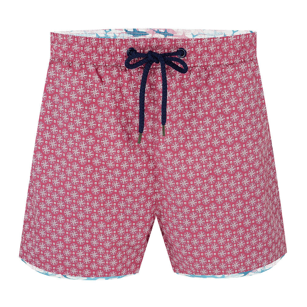 Balmoral Compass Pink Men's Swim Shorts