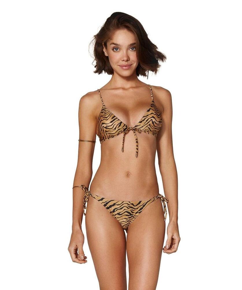 Tiger Bralette Top Black