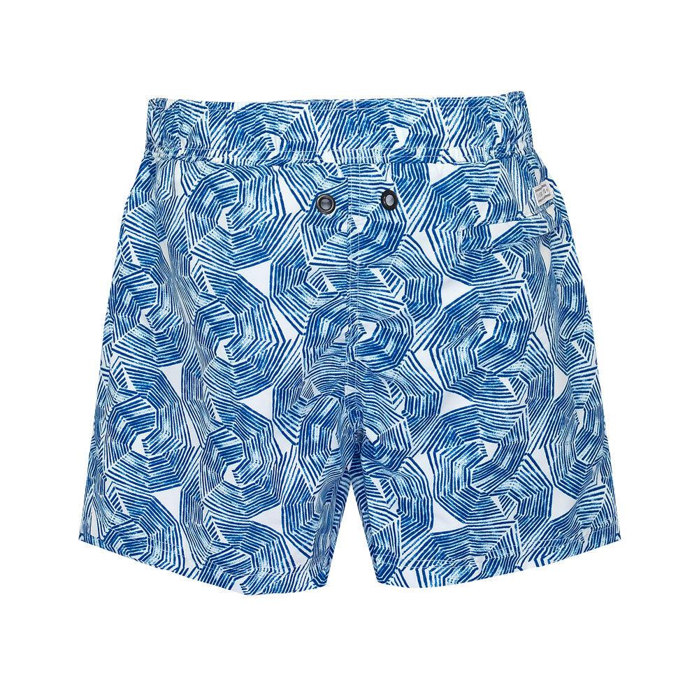 Balmoral Blue Umbrellas Men's Swim Shorts
