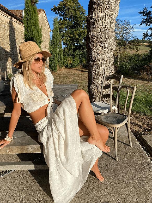 Koko Long Skirt Linen Ivory