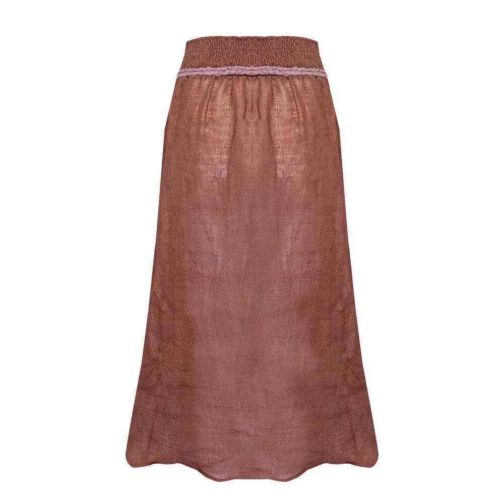 Louise Skirt Linen Havana