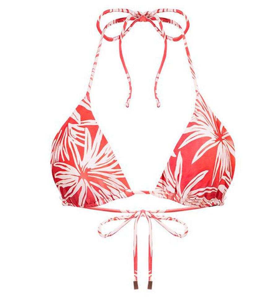 Palm Triangle Bikini Top