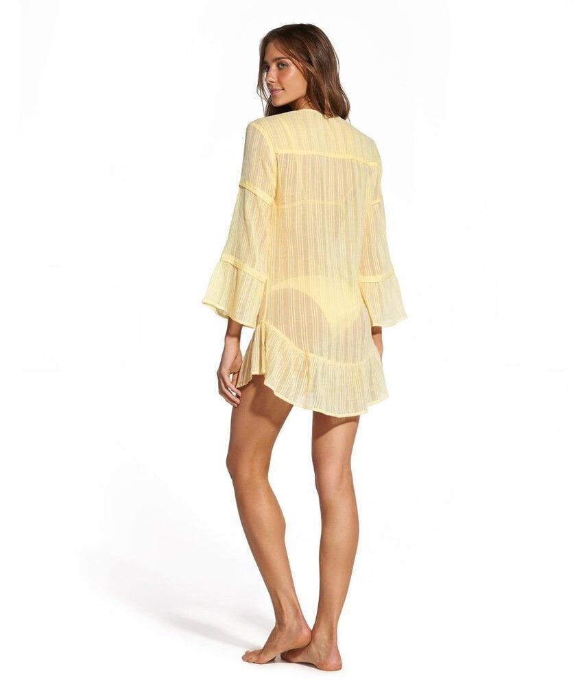 Solid Ruffle Tunic Yellow