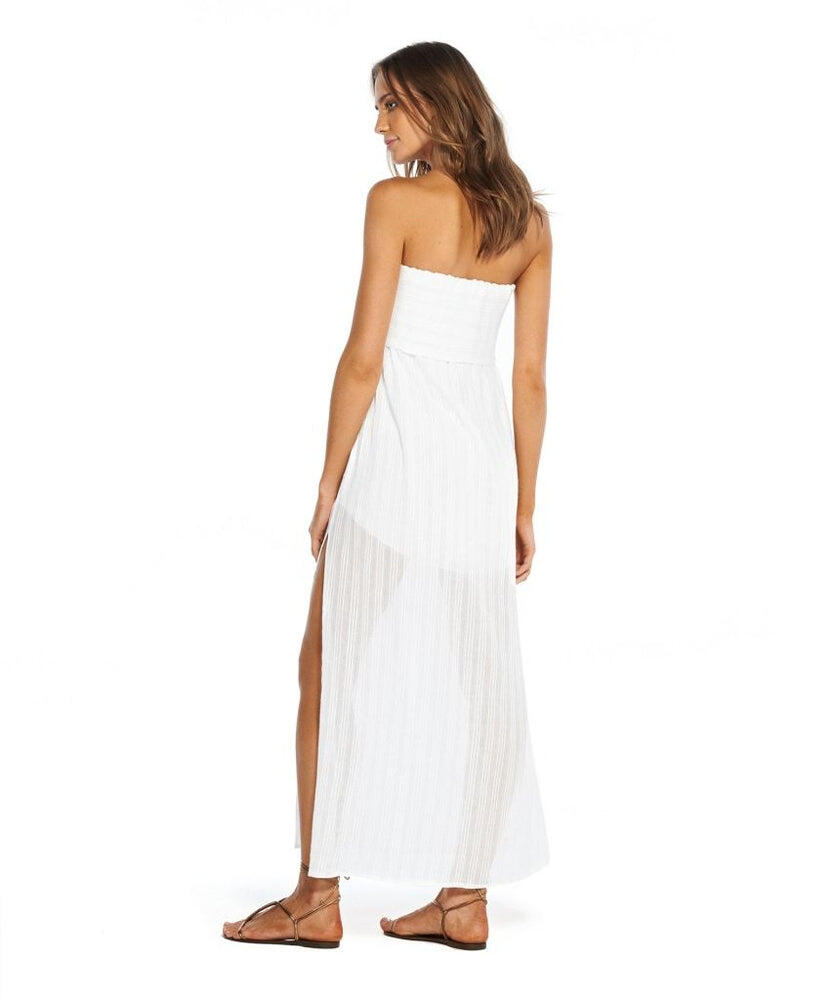 Solid Tess Strapless Dress White