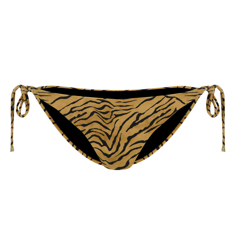 Tiger Long Tie Side Full Bikini Bottom