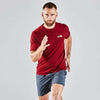 Vital Tshirt - Burgundy-VPA Australia