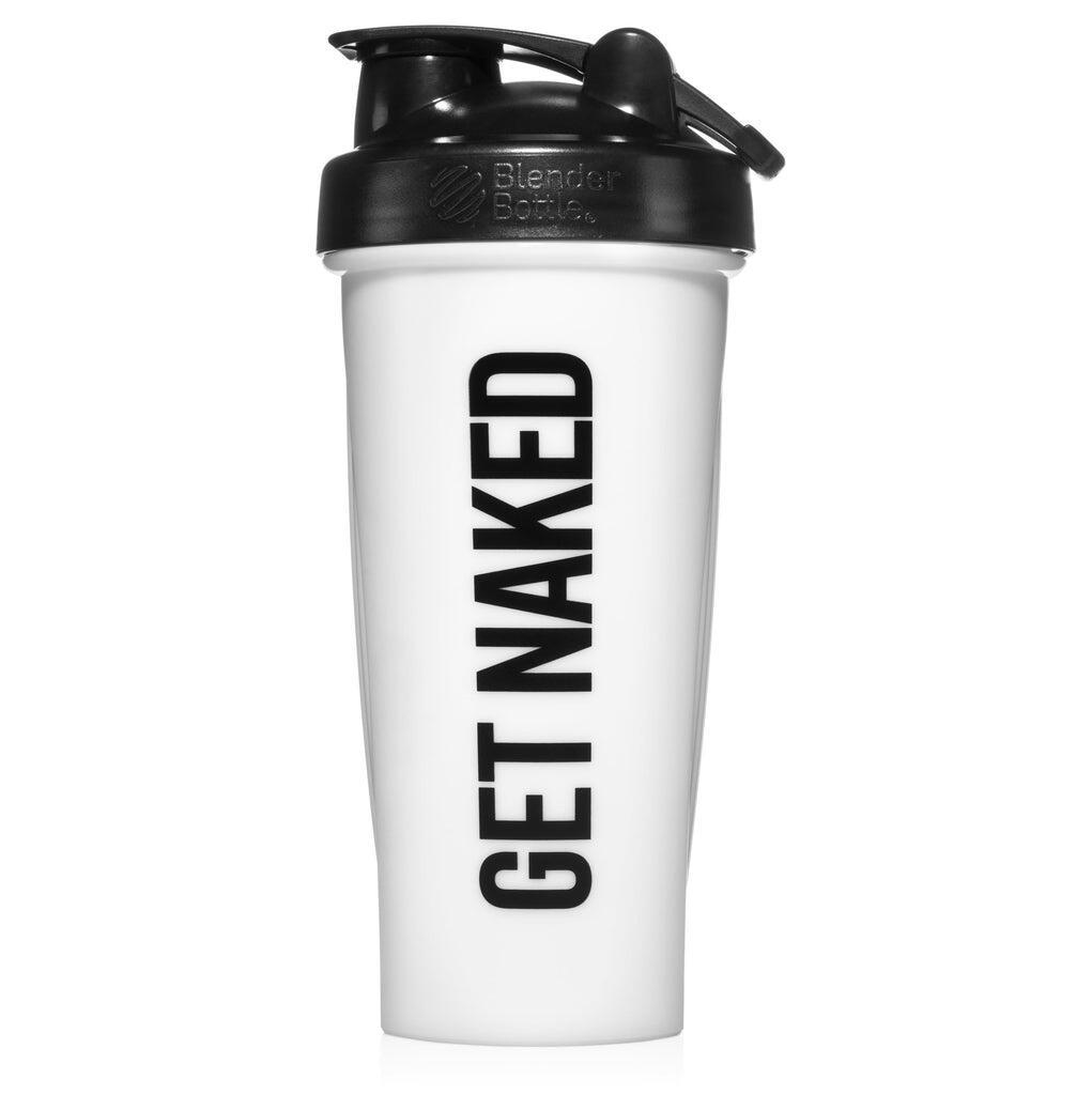 GET NAKED Naked Nutrition Shaker Bottle with Blender Ball - 28oz - White