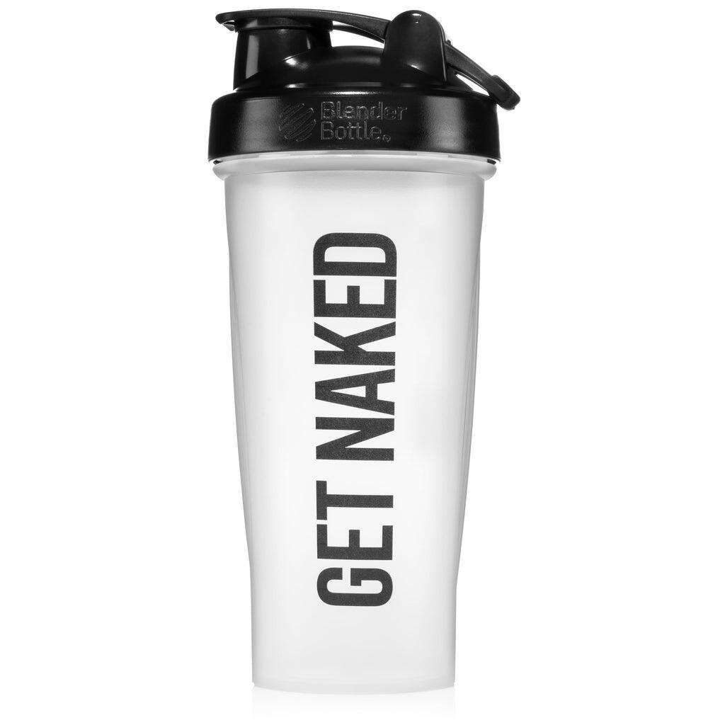 GET NAKED Naked Nutrition Shaker Bottle with Blender Ball - 28oz - Clear