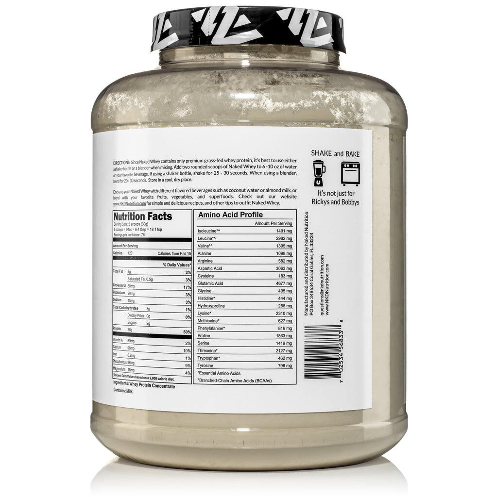 grass fed whey protein nutrition facts