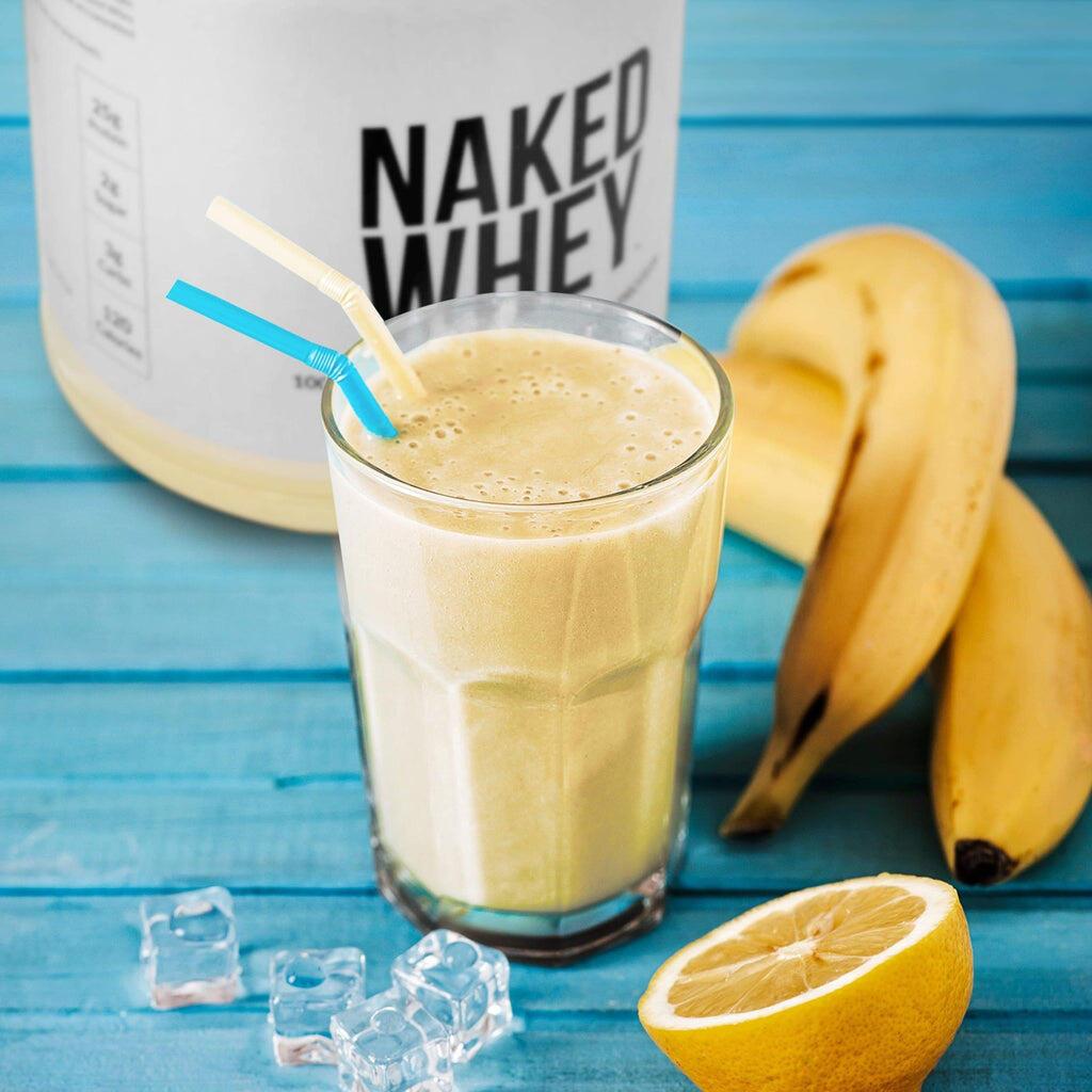 vanilla whey protein shake