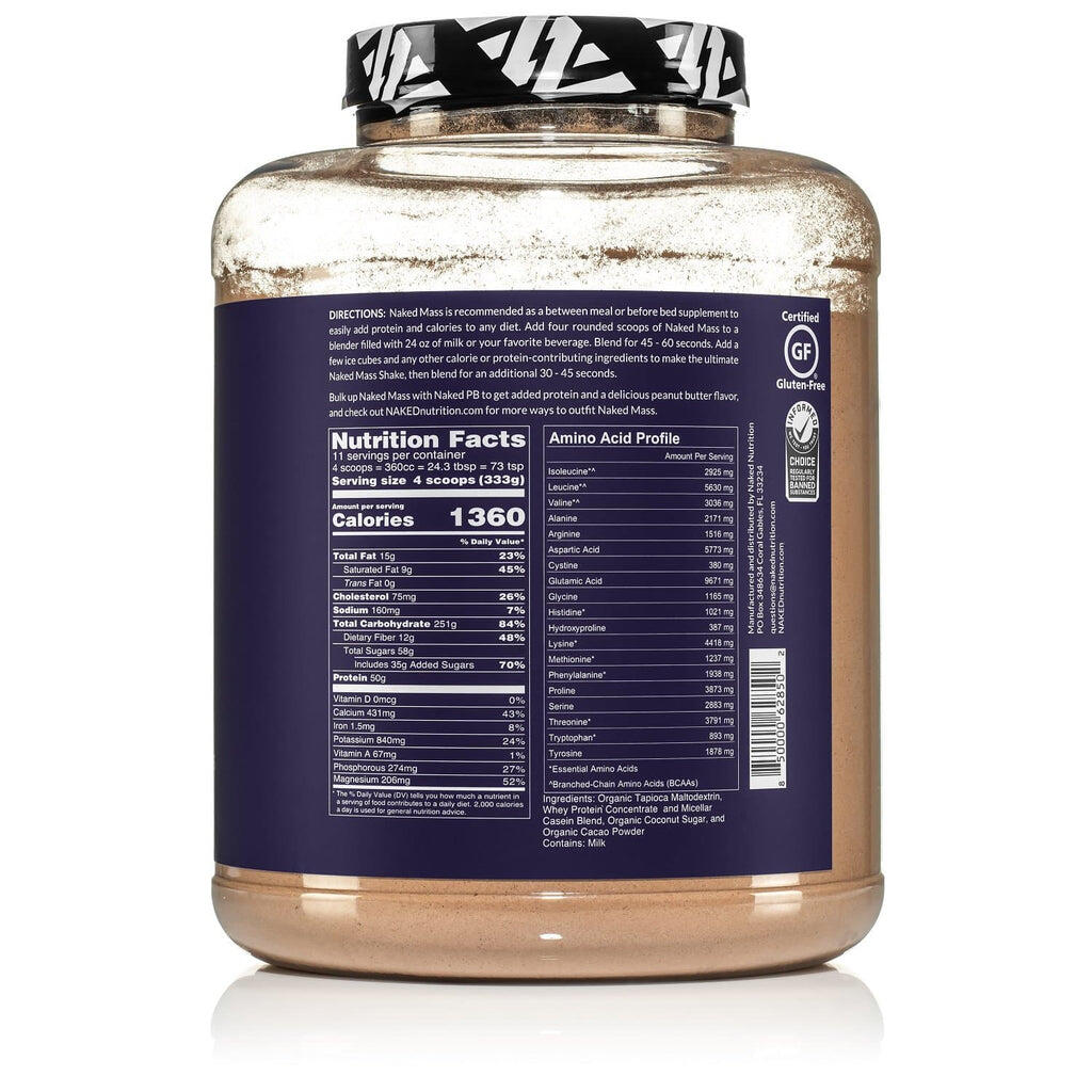 chocolate weight gainer supplement facts