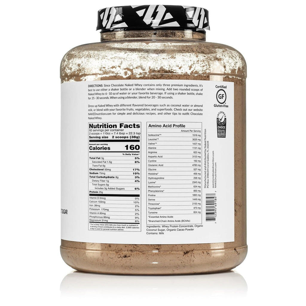 grass-fed chocolate whey nutrition facts