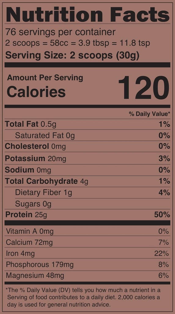 rice protein supplement facts