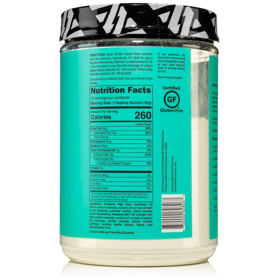vanilla keto fat bomb nutrition facts