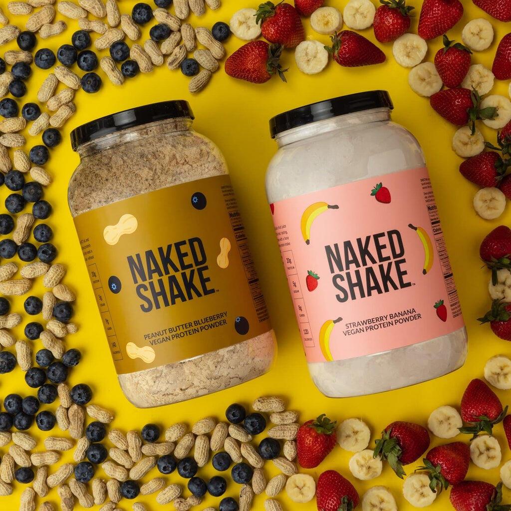 vegan protein shakes pb and strawberry
