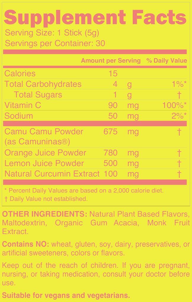 vitamin c powder supplement facts