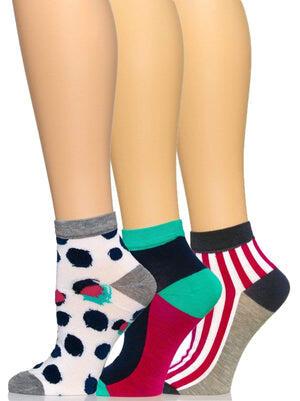 Felina Anklet Socks 3-Pack color-abstract dot