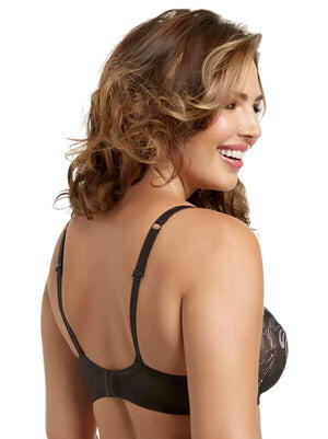 Paramour by Felina Ellie Demi Unlined Bra back shot color-black