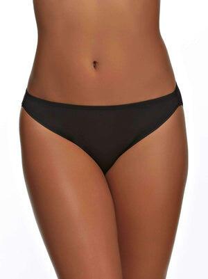 So Smooth Hi Cut Geo Lace Panty color-black
