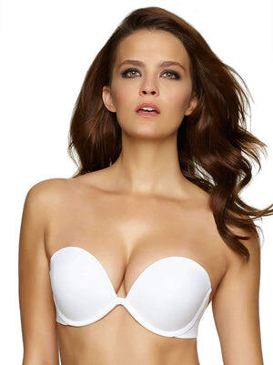 Felina Bra of the year Seamless Strapless Bra color-white