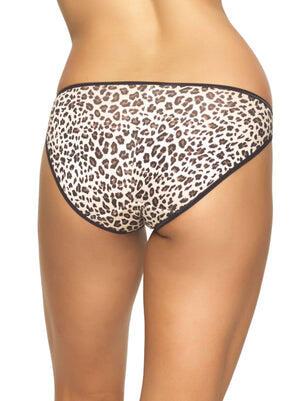 Felina So Smooth Modal Low Rise Bikini color-cheetah