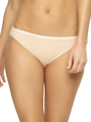 organic cotton bikini 6 pack color-sandalwood