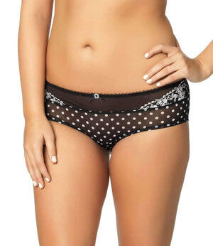 Paramour by Felina Sweet Revenge Hipster color-black ivory dot