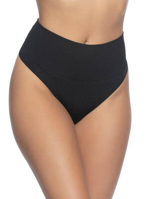 muffin tamer thong color-black warm nude