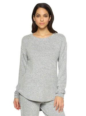 Felina Victoria Long Sleeve Crew Neck color-heather gray