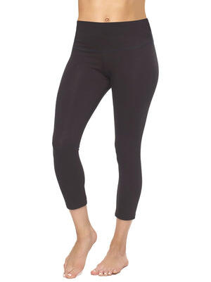 capri leggings color-black