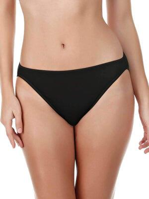 Felina So Smooth Hi Cut Panty 5-Pack color-black mauve taupe animal