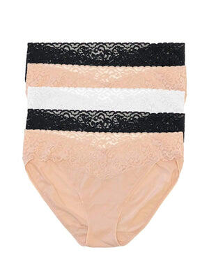 Jezebel by Felina Super Stretch Bikini 5-Pack color-neutral shades