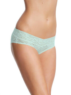 stretchy lace hipster color-tranquility blue