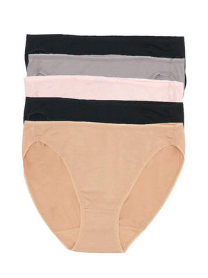 Felina Sublime Hi Cut 5-Pack color-neutrals
