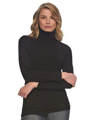 long sleeve turtle neck color-black
