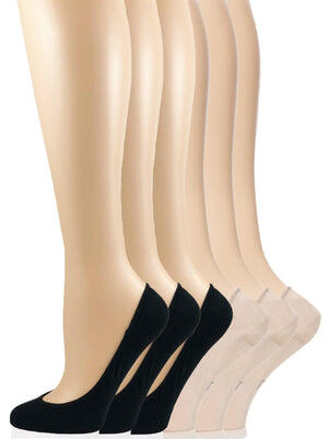 Invisible Bamboo Liner Socks 6-Pack